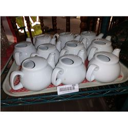 Lot of 10 tea pots