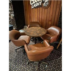 Lot of Bar table and 4 tubs chairs