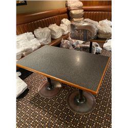 Double pedestal 32 x 48 cafe bar table