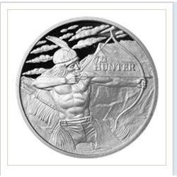 The Hunter 1 Oz Silver Round (.999 Pure)
