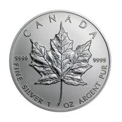 1 oz Canadian Maple Leaf Silver .9999 pure (Random Date)