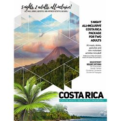 1 - COSTA RICAN BEACH FRONT VACATION PACKAGE FOR 2