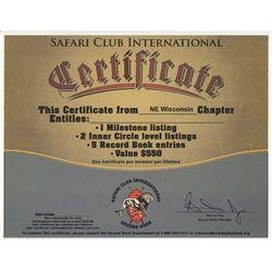 29 - SCI RECORD BOOK CERTIFICATE