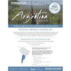 33 - ARGENTINA DOVE HUNT FOR 2 HUNTERS