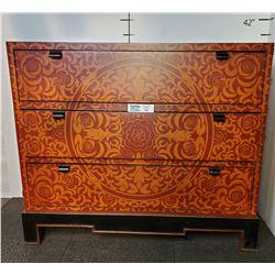 Fancy Orange 3 Drawer Dresser