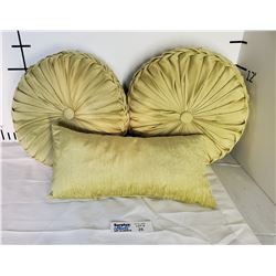 Lot of 3 Accent Pillows