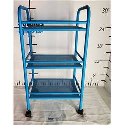 Blue Craft/Side Cart with Castor Wheels