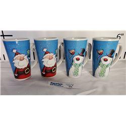 Lot of 4 Christmas Mugs