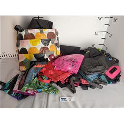 Lot of Reusable Shopping Bags