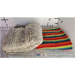 Lot of 2 Throw Blankets