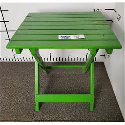 Green Folding Patio side Table