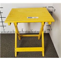 Yellow Folding Patio side Table