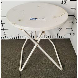 White Folding Patio side Table
