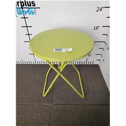 Green Metal Folding Patio side Table