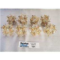 Lot of 8 Jeweled Napkin Rings