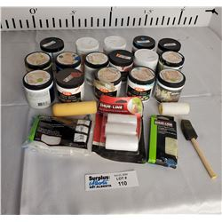 Lot of paint and Painting supplies