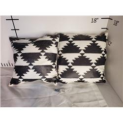 Lot of 2 Throw Pillows