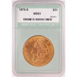 1875-S $20 Liberty Head Double Eagle Gold Coin NTC MS61