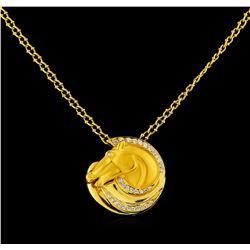 Carrera y Carrera 0.40 ctw Diamond Necklace - 18KT Yellow Gold