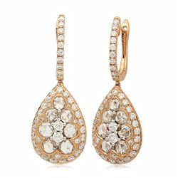 18k Rose Gold 2.29CTW Diamond Earrings, (VS/G)