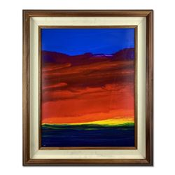 Painted Sunset by Wyland Original