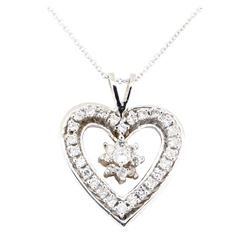 1.23 ctw Diamond Pendant And Chain - 14KT White Gold