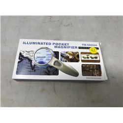 illuminated 4x pocket magnifier