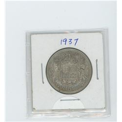 1937 silver fifty cent coin