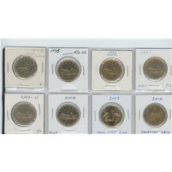 set of eight loonies