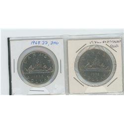 1968 Dbl date, Dbl horizontal line, 1976 detached jewels nickel dollar