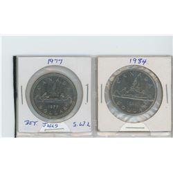 1977 detached jewels, SWL - 1984 nickel dollars
