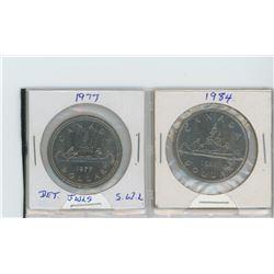 1977 detached jewels, SWL - 1984 nickel dollars