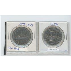 1977 SWL, detached jewels- 1887-1982 confederation dollars
