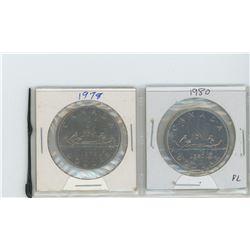 1978, 1980 PL nickel dollars