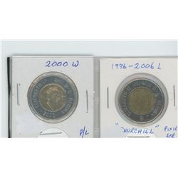 "2000W, 1996-2006L ""Churchill/pixie ear"" toonies"