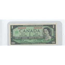 1967 bank of canada dollar bill - CH UNC- BC-45b-I