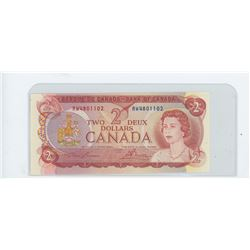 1974 bank of canada two dollar bill