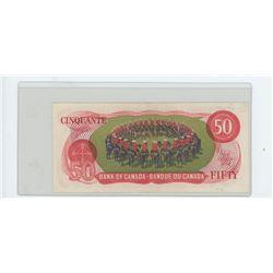 1975 bank of canada fifty dollar bill, BC-51a-i