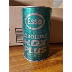 ESSO HDX PLUS OIL TIN (FULL)