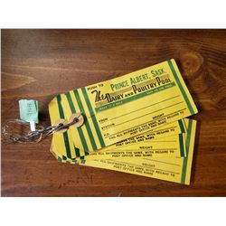 5 PRINCE ALBERT, SK DAIRY & POULTRY POOL TAGS