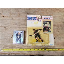 OTTAWA SENATORS HOCKEY FIGURINE & YEAR 2000 CARDS
