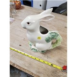 WHITE RABBIT PITCHER (MADE IN ITALY)