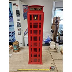 """RED TELEPHONE BOOTH DISPLAY CASE 33.5"""" TALL"""
