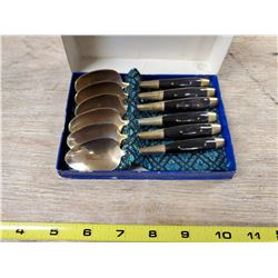 6 TEASPOONS, GOLD COLOUR, BANGKOK