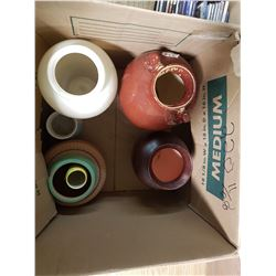 6 Old Assorted Vases