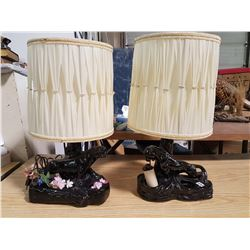 Pair of Black Panther Lamps