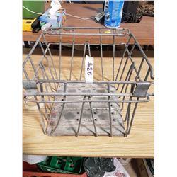 Antique Wire Milk Crate