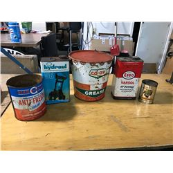 Assortment Of Oil + Grease Tins (5)