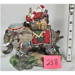 Ornate SANTA on Elephant Xmas Ornaments