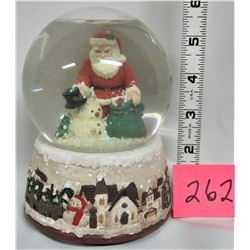 "Boxed 4"" Musical Santa and Snowman SNOWGLOBE"